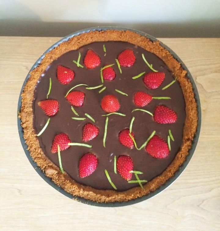 tarte fraises chocolat speculos